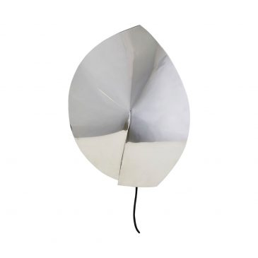 Wall lamp, Leaf, Silver finish