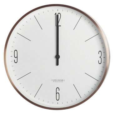Wall clock, Clock Couture, White/Gold